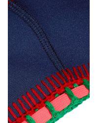 KIINI - Blue Tasmin Crochet-trimmed Bikini Top - Lyst