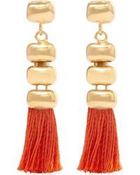 Rosantica | Metallic Atena Tasseled Gold-tone Earrings | Lyst