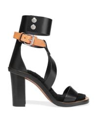 Isabel Marant - Black Jenyd Shearling-lined Leather Sandals - Lyst