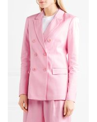 Tibi - Pink Steward Double Breasted Blazer - Lyst