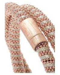 Carolina Bucci - Multicolor Twister 18-karat Rose Gold-plated And Silk Bracelet - Lyst