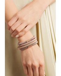 Carolina Bucci - Metallic Twister 18-karat Rose Gold Plated And Silk Bracelet - Lyst