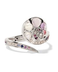 Venyx | Metallic 18-karat White Gold Multi-stone Ring | Lyst