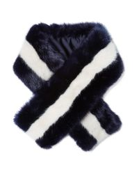 J.Crew - Blue Mariner Faux Fur Scarf - Lyst