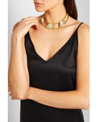 Anndra Neen - Metallic Triangle Gold And Silver-plated Choker - Lyst