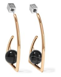 Uribe - Metallic Beatrix Gold-plated Agate Earrings - Lyst