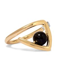 Uribe - Metallic Zaha Gold-plated Agate Ring - Lyst