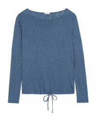 Splendid - Blue Supima Cotton And Micro Modal-blend Jersey Top - Lyst