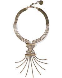Lanvin - Metallic Elvira Gold-tone Necklace - Lyst