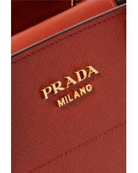 Prada | Bibliotheque Textured-Leather Tote | Lyst