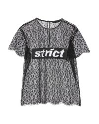 Alexander Wang | Black Lace Patch Top | Lyst