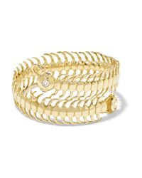 Daniela Villegas - Metallic Baby Centipede 18-karat Gold, Diamond And Sapphire Ring - Lyst