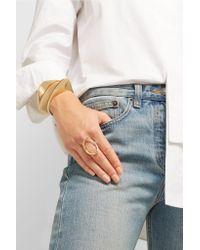 Charlotte Chesnais - Metallic Ada Set Of Three Gold-dipped Cuffs - Lyst