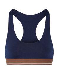 Olympia - Blue Alta Stretch-jersey Sports Bra - Lyst