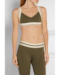 Olympia - Green X Stretch-jersey Sports Bra - Lyst