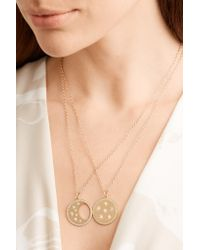Andrea Fohrman - Metallic Waning/ Waxing Moon Phase 14-karat Gold Diamond Necklace - Lyst