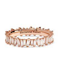 Suzanne Kalan - Metallic 18-karat Rose Gold Diamond Ring - Lyst