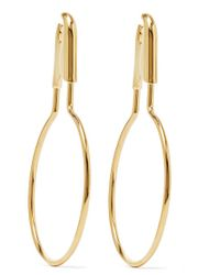 Balenciaga - Metallic Gold-plated Earrings - Lyst