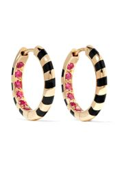Alice Cicolini | Metallic Candy 14-karat Gold, Enamel And Ruby Earrings | Lyst