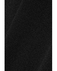 By Malene Birger - Black Ayai Cutout Stretch-knit Turtleneck Sweater - Lyst