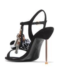 Sophia Webster - Black Layla Embellished Suede Sandals - Lyst