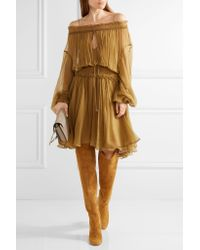 Aquazzura - Brown London Suede Over-the-knee Boots - Lyst