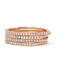 Repossi | Multicolor Antifer 18-karat Rose Gold Diamond Ring | Lyst