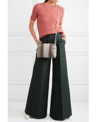 Bottega Veneta - Natural Nodini Small Embroidered Intrecciato Leather Shoulder Bag - Lyst