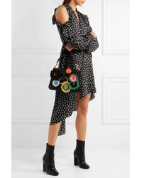 J.W. Anderson   Black Pierce Medium Embellished Leather Shoulder Bag   Lyst