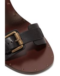See By Chloé - Black Buckled Leather Sandals - Lyst