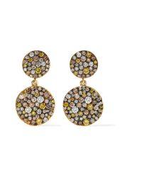 Ileana Makri | Metallic Double Disc 18-karat Gold Diamond Earrings | Lyst