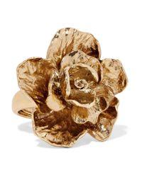 Oscar de la Renta - Metallic Gold-plated Ring - Lyst