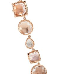 Larkspur & Hawk - Metallic Sadie Rivière Rose Gold-dipped Quartz Necklace - Lyst