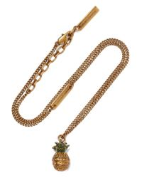 Marc Jacobs | Metallic Pineapple Gold-plated Crystal Necklace | Lyst