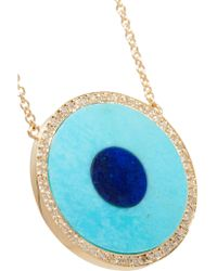 Jennifer Meyer - Blue Evil Eye 18-karat Gold Multi-stone Necklace - Lyst