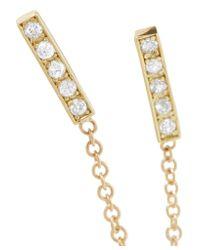 Jennifer Meyer - Metallic 18-karat Gold Diamond Earring - Lyst