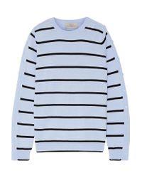 Preen By Thornton Bregazzi - Blue Ada Striped Wool-blend Sweater - Lyst