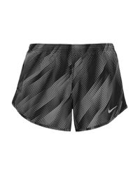 Nike | Black Tempo Printed Shell Shorts | Lyst