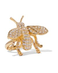 Kenneth Jay Lane | Metallic Gold-plated Crystal Ring | Lyst