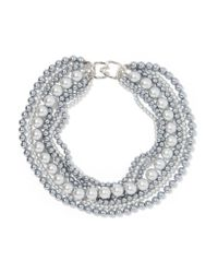 Kenneth Jay Lane | Multicolor Faux Pearl Necklace | Lyst