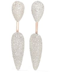 Monica Vinader | Metallic Stellar Rose Gold Vermeil Diamond Earrings | Lyst