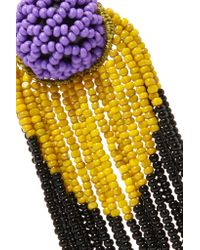 Etro | Purple Beaded Earrings | Lyst