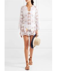 Miguelina - White Karla Crocheted Cotton Coverup - Lyst
