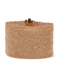 Carolina Bucci - Multicolor Woven 18-karat Gold Bracelet - Lyst