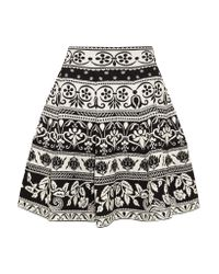 Alexander McQueen   Black Jacquard Skirt   Lyst