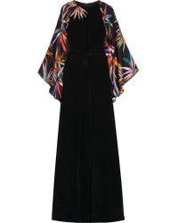 Emilio Pucci - Black Embellished Silk Gown - Lyst