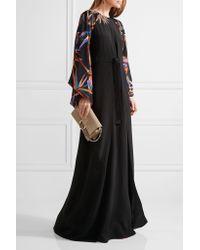 Emilio Pucci | Black Embellished Silk Gown | Lyst