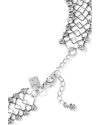 DANNIJO - Metallic Kennedy Oxidized Silver-plated Swarovski Crystal Choker - Lyst