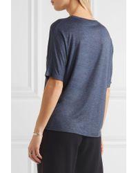Vince - Blue Stretch-jersey T-shirt - Lyst