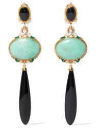 Percossi Papi | Blue Gold-plated Multi-stone Earrings | Lyst